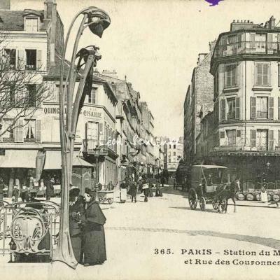 CM 365 - Station du Métro et Rue des Couronnes
