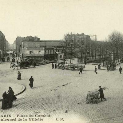 CM 372 - PARIS - Place du Combat et Bd de la Villette