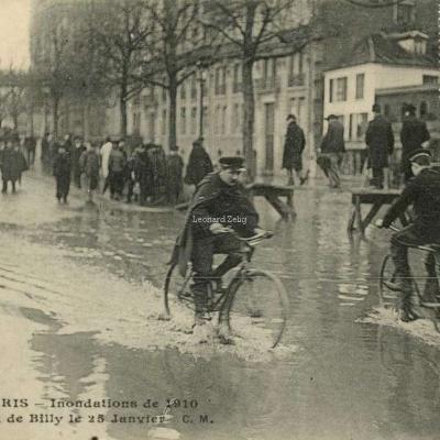 CM 4 - PARIS - Inondations de 1910 - Le Quai de Billy le 25 Janvier