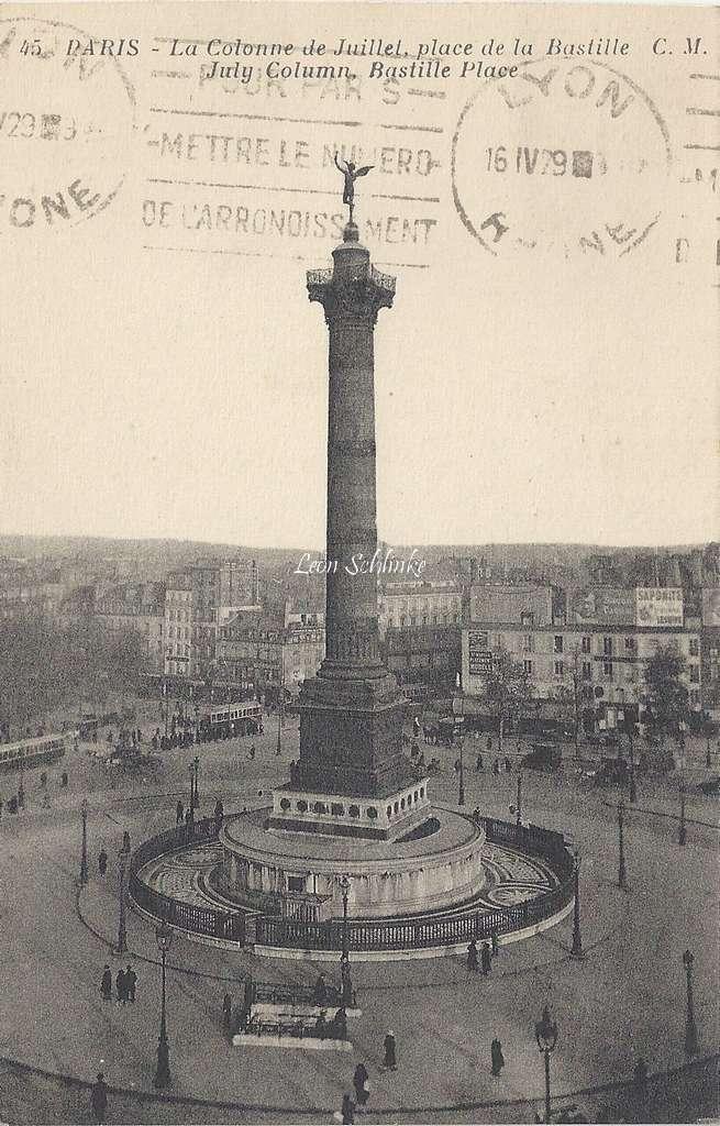 CM 45 - La Colonne de Juillet, place de la Bastille