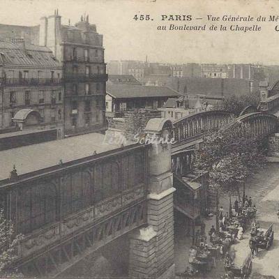 CM 455 - Vue générale du Métro Bd de la Chapelle