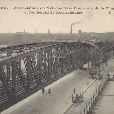 CM 460 - Vue générale du Métropolitain Boulevard de la Chapelle