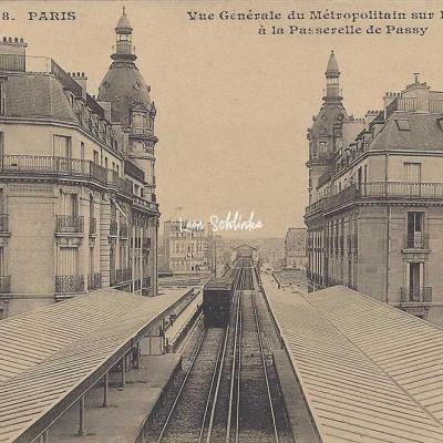 CM 478 - Vue du Métro sur la Seine à la Passerelle de Passy