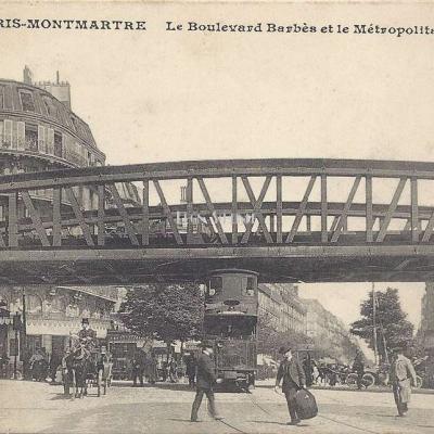 CM 491 - Montmartre - Le Boulevard Barbès et le Métro