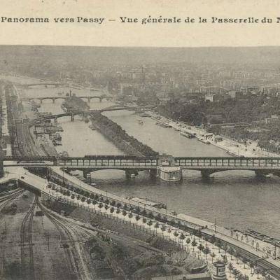 CM 533 - PARIS - Panorama vers Passy vue generale de la Passerelle du Metropolitain