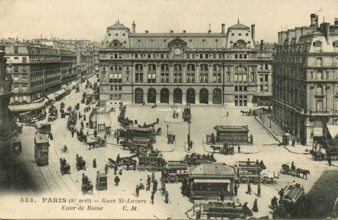 CM 553 - PARIS - Gare St-Lazare Cour de Rome