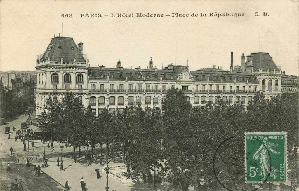 CM 568 - PARIS - L'Hôtel Moderne - Place de la République