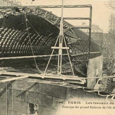 CM 596 - Fonçage du grand caisson de l'Île de la Cité