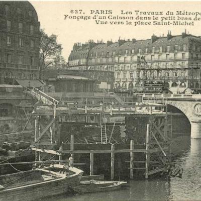 CM 637 - Fonçage d'un caisson dans la Seine