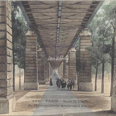 CM 653 - Sous le viaduc du Metropolitain Boulevard Blanqui