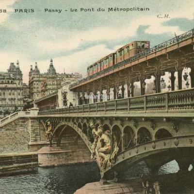 CM 68 - PARIS - Passy - Le Pont du Métropolitain