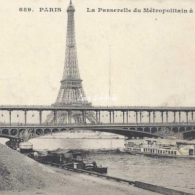 CM 689 - La Passerelle du Métropolitain à Passy