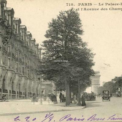 CM 718 - PARIS - Le Palace-HOTEL et l'Avenue des Champs-Elysées