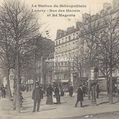 CM 872 - Lancry - Rue des Marais et Bd Magenta