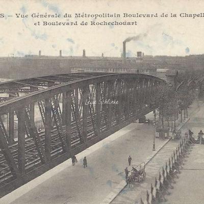CM 914 - Vue générale du Métropolitain Bd de la Chapelle