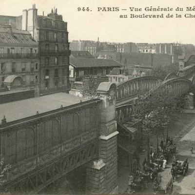 CM 944 - PARIS - Vue générale du Métropolitain au Boulevard de la Chapelle