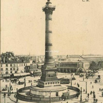 CM - PARIS - Colonne de Juillet, Place de la Bastille