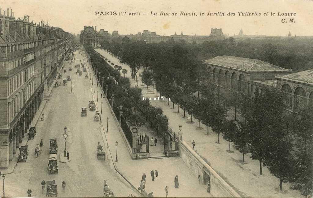 CM - PARIS - La Rue de Rivoli, le Jardin des Tuileries et le Louvre
