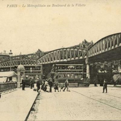 Comptoir industriel - PARIS - Le Métropolitain au Boulevard de la Villette