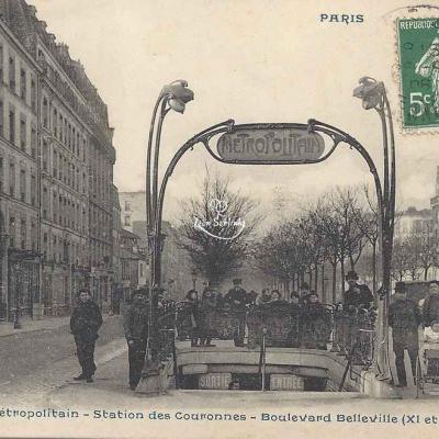 CP 1005 - Le Métropolitain - Sation des Couronnes, Bd Belleville