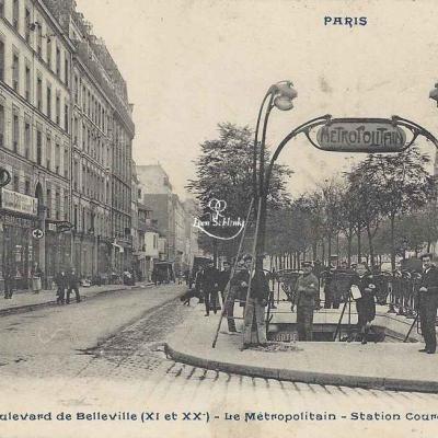 CP 1087 - Boulevard de Belleville - Station Couronnes