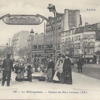 CP 188 - Le Métropolitain - Station du Père-Lachaise