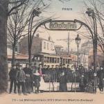 CP 278 - Le Métropolitain (XX°) Station Martin-Nadaud