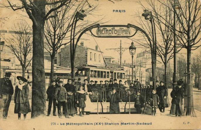 CP 278 - Le Métropolitain (XX°) Station Martin - Nadaud