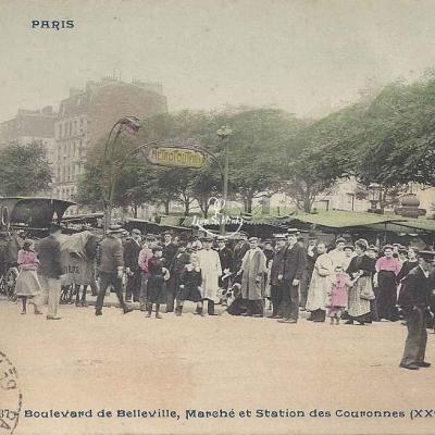 CP 337 - Boulevard de Belleville, Station des Couronnes