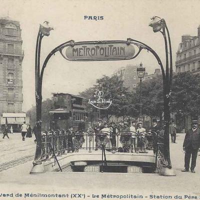 CP 539 - Boulevard de Ménilmontant - Station du Père-Lachaise