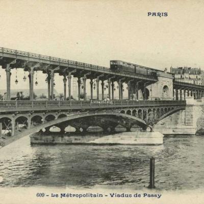 CP 609 - PARIS - Le Métropolitain - Viaduc de Passy
