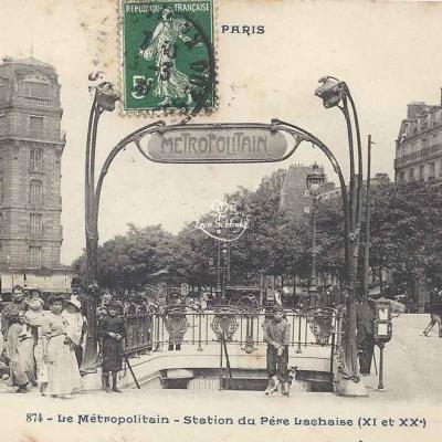 CP 874 - Le Métropolitain - Station du Père Lachaise