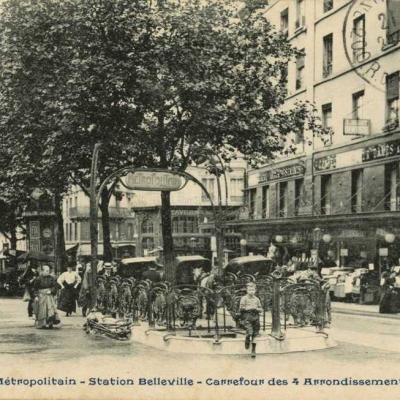 CP 884 - Station Belleville - Carrefour des 4 arrondissements