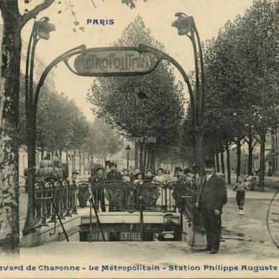 CP 920 - Boulevard de Charonne - Le Métropolitain - Station Philippe-Auguste