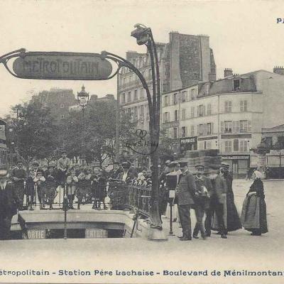 CP 944 - Le Métropolitain - Station Père-Lachaise - Bd de Ménilmontant