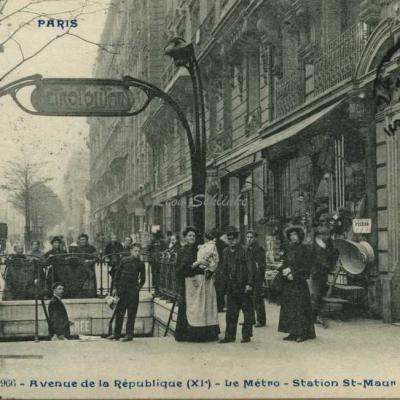 CP 966 - Avenue de la République - Le Métro - Station St-Maur