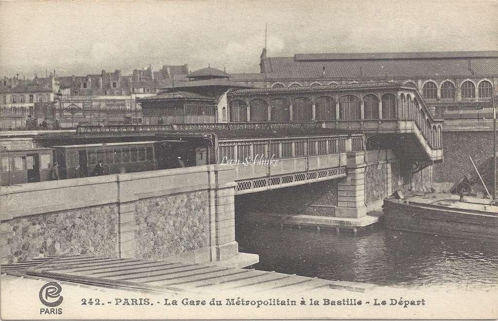 CR 242 - La Gare du Metropolitain à la Bastille - Le Départ