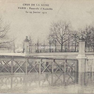 ELD - Crue de la Seine Passerelle d'Austerlitz