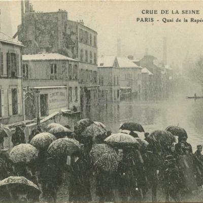 Crue de la Seine - Quai de la Rapée
