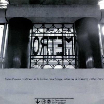 D.Wagner - Intérieur de la Station Monge à la rue de Navarre