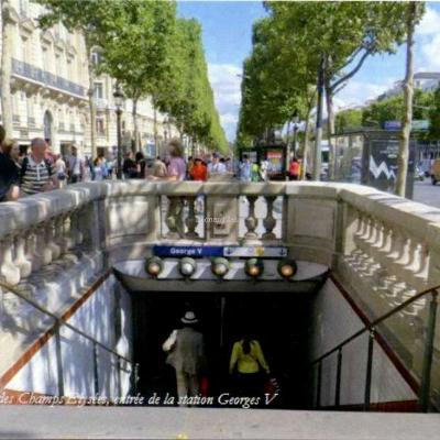 D.Wagner - Paris, Avenue des Champs Elysées, entrée de la station George V