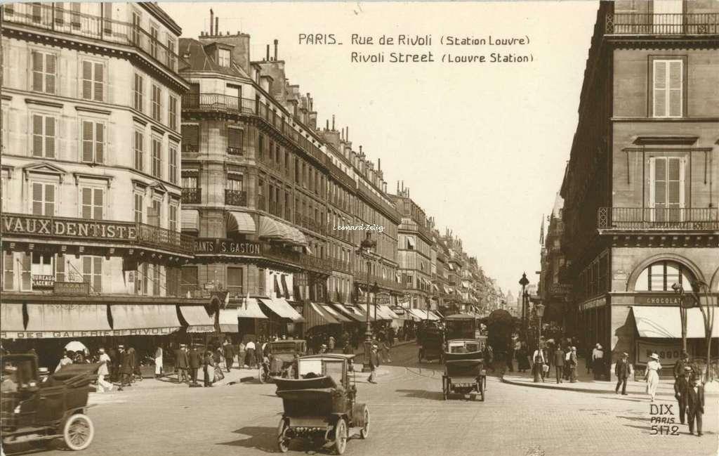 DIX 5172 - PARIS - Rue de Rivoli (Station Louvre)