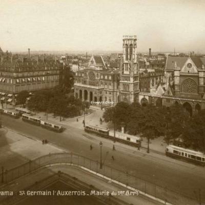 DIX 5223 - PARIS - Panorama St Germain l'Auxerrois - Mairie du 1er Arrt.