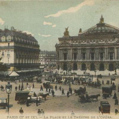 DL 3 PARIS (II° et IX°) -  La Place et le Théâtre de l'Opéra