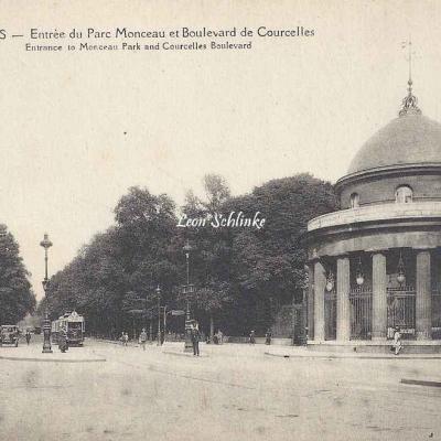 E.Papeghin 361 - Entrée du Parc Monceau et Bd de Courcelles