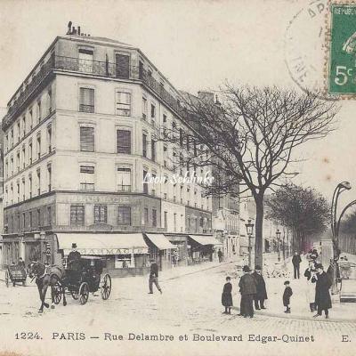 ELD 1224 - Rue Delambre et Boulevard Edgar-Quinet