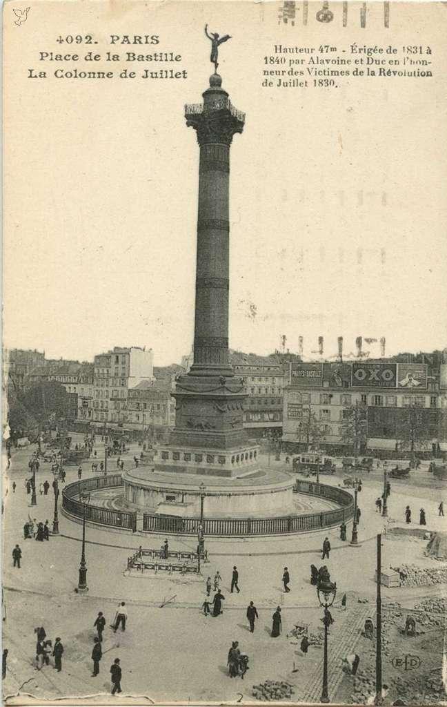 ELD 4092 - Place de la Bastille - Colonne de Juillet