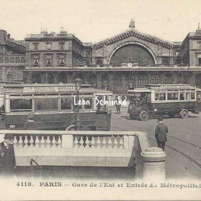 ELD 4118 - Gare de l'Est et Entrée du Métropolitain
