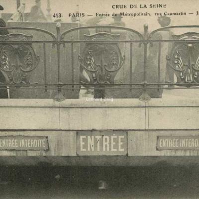 ELD 413 - PARIS - Crue de la Seine - Entrée du Métropolitain rue Caumartin