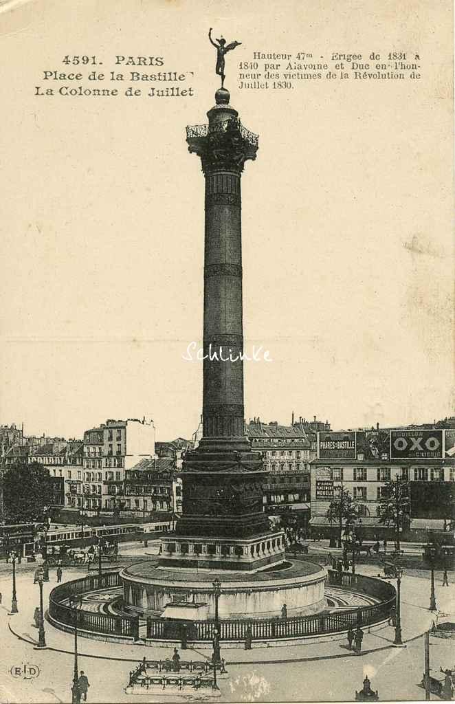 ELD 4591 - Place de la Bastille, la Colonne de Juillet